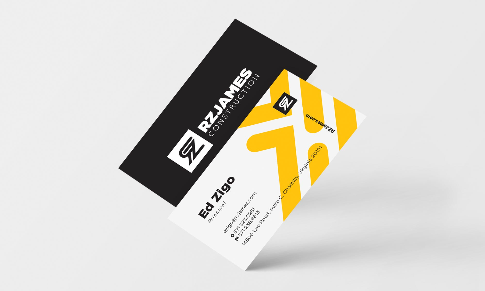 RZJames Construction Business Card